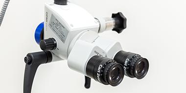 顕微鏡を使った精確な診察